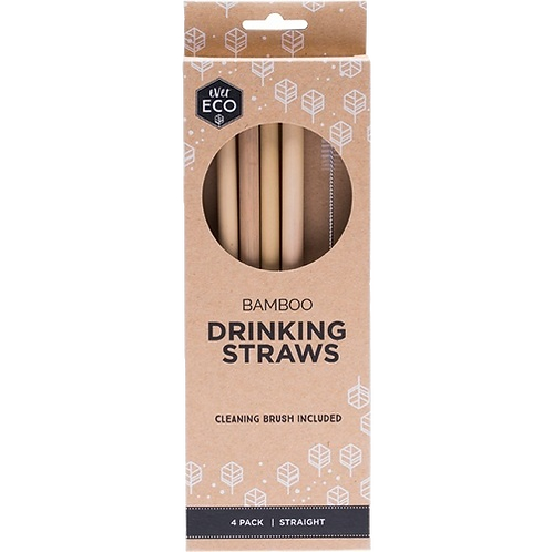 Ever Eco - Bamboo Straws (x4 Pack)