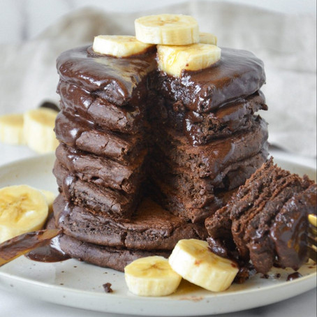 Chocolate Fluffy Protein Pancakes