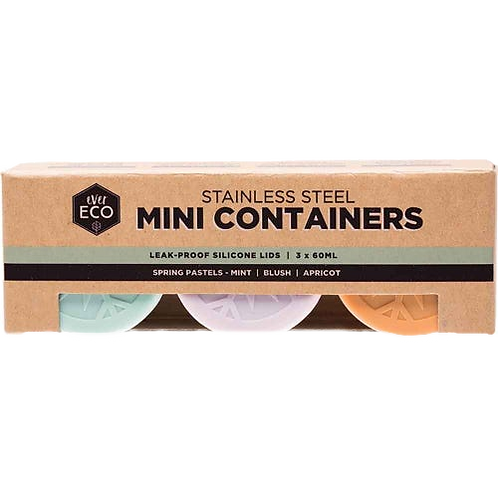 Ever Eco - Mini Containers Pastel Collection (Set of 3)