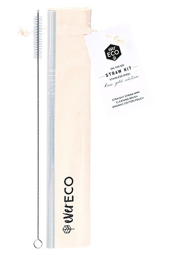 Ever Eco - On The Go Straw Kit (Silver)