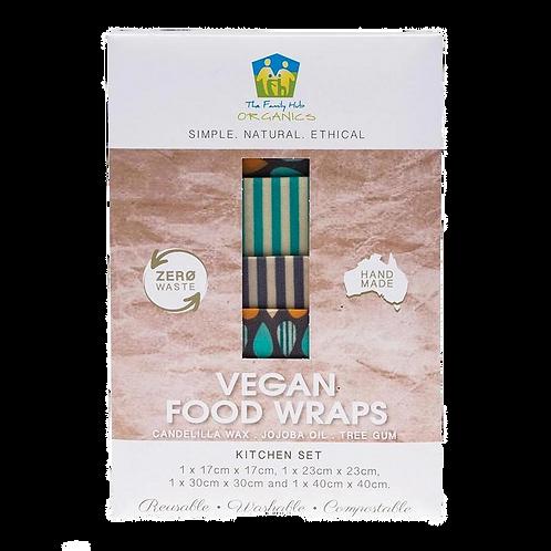 The Family Hub Organics- Vegan Food Wraps Kitchen Pack