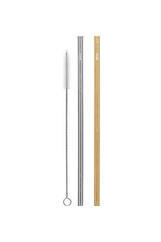 Cheeki - Stainless Steel Drinking Straws Straight 2 Pack