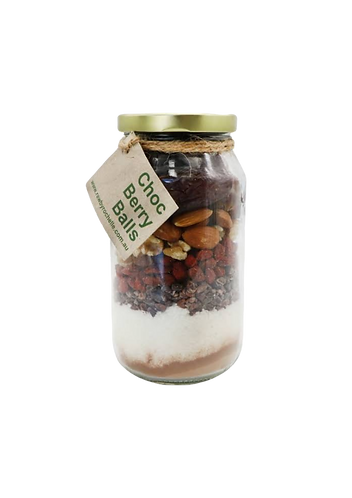 Raw By Rochelle - DIY Bliss Ball Jar Chocolate Berry