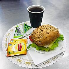 Frukostpaket inklusive tilbehör.