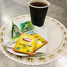 Kaffe/te med tillbehör