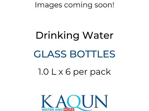 DRINKING WATER Glass Bottles 6-pack - 1,0 L bottle x 6