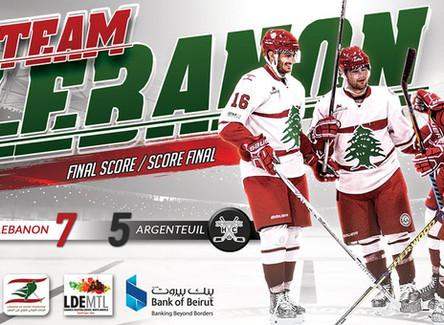 Lebanon wins best of 3 series vs Argenteuil HC!