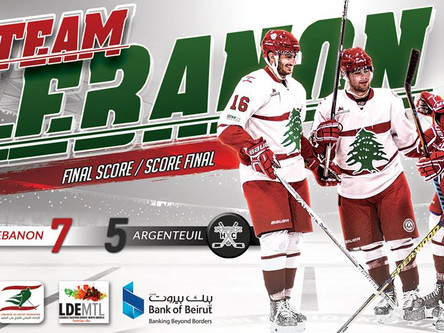 Lebanon wins best of 3 series vs Argenteuil HC!