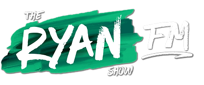 The Ryan Show FM Green White Drop Shadow