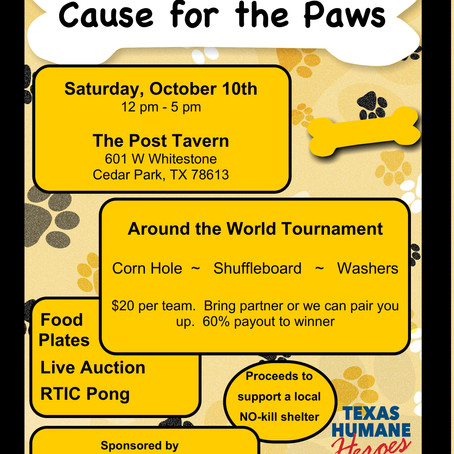 Cause for the Paws Fundraiser