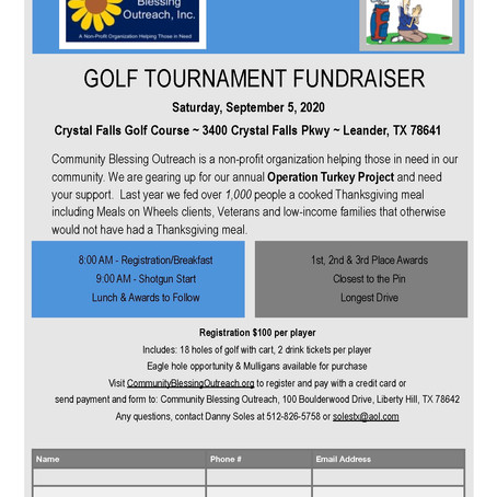 2020 Annual Golf Tournament REGISTRATION FORM