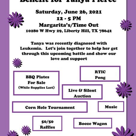 Benefit Fundraiser for Tanya Pierce