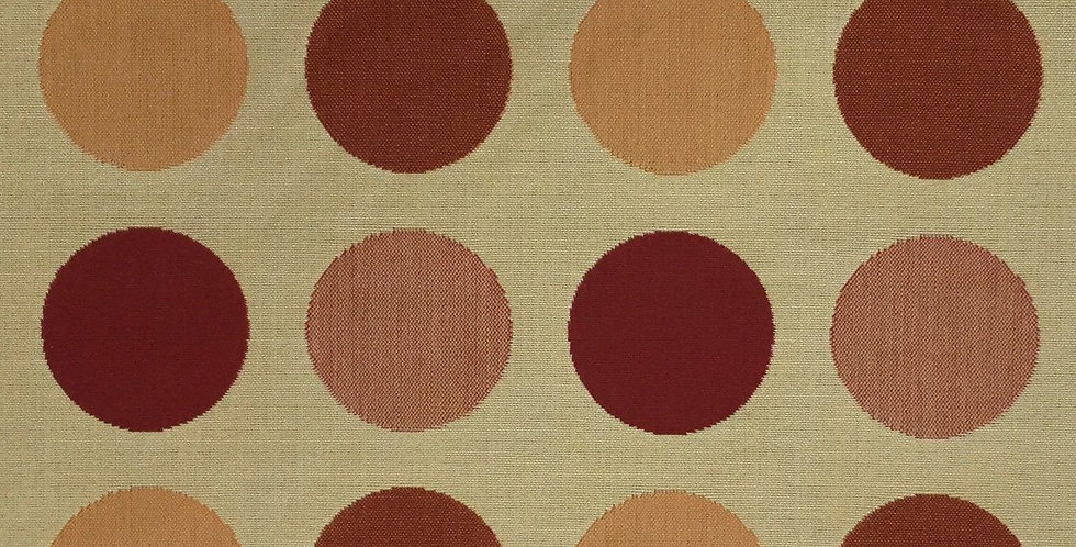 Indoor/Outdoor Large Polka Dot - Dark Red - Peach