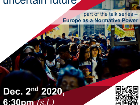 Online Talk, December 2nd: EU and the People's Republic - an uncertain future