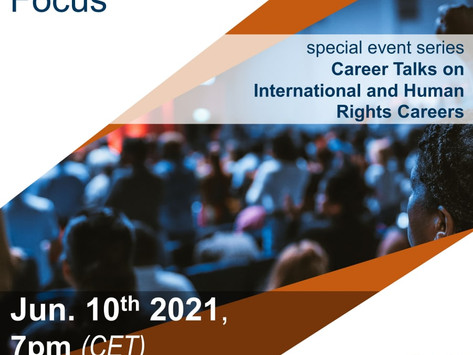 Panel on June 10: Career with a Cause - NGO Perspectives in Focus