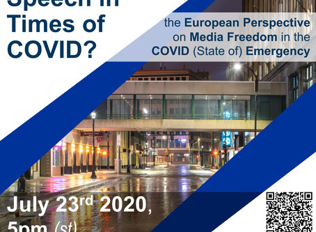 Global Order Talk, July 23: EU Media Freedom During the Pandemic