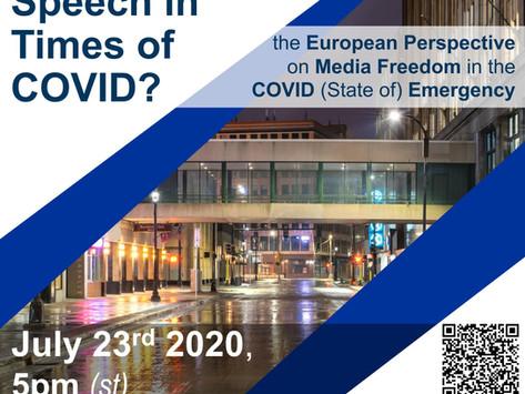 Global Order Talk, July 23: EU Media Freedom During the Pandemic