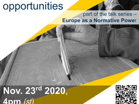 Online Talk, November 23rd: European democracy promotion - risks and opportunities