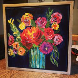 Flowers acrylics