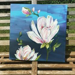 Magnolias acrylics