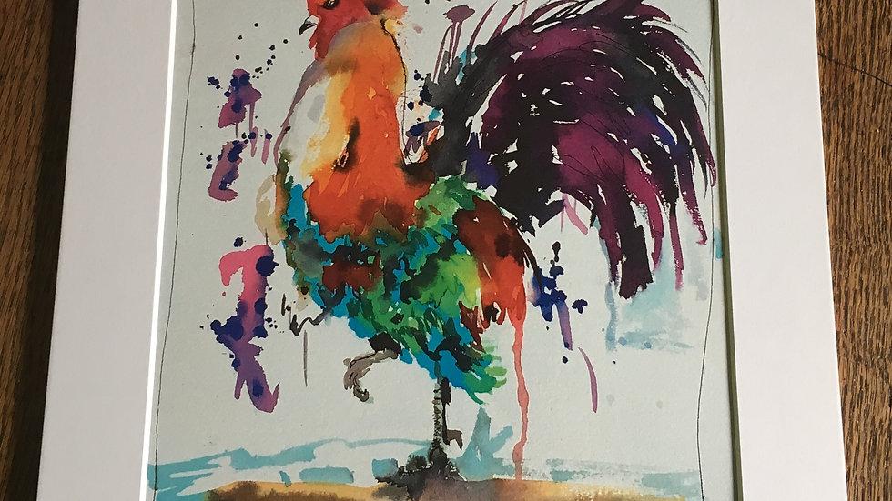 Cock a doodle doo print
