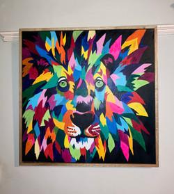 Lion acrylics