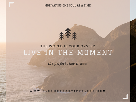 In The Moment - Jesus did it!