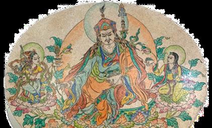 Guru Rinpoche, Yeshe Tsogyal, and Mandarava