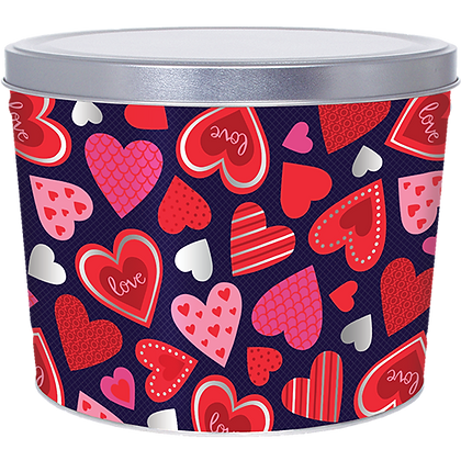 Valentine's Popcorn Tin - 2 Gallon