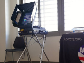 Touchscreen Accessible Voting Machine in Alameda County