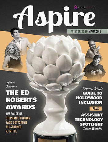Aspire Winter Cover featuring Ed Roberts Awards Honorees