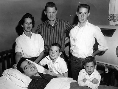 Ed Roberts and his family.