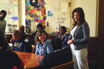 Mayor Schaaf listens to students