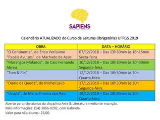 Últimas aulas LEITURAS OBRIGATÓRIAS UFRGS
