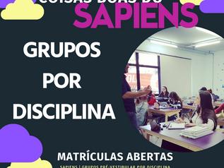 COISAS BOAS DO SAPIENS II | GRUPOS POR DISCIPLINA