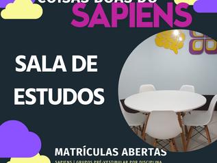COISAS BOAS DO SAPIENS VI: SALA DE ESTUDOS