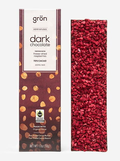 CBD Dark Chocolate w/ Raspberry (100mg)