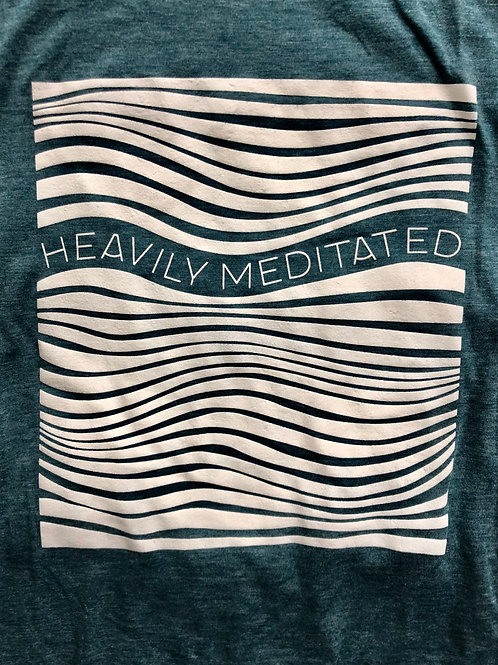 Heavily Meditated Tank (Women's Teal and Gray)