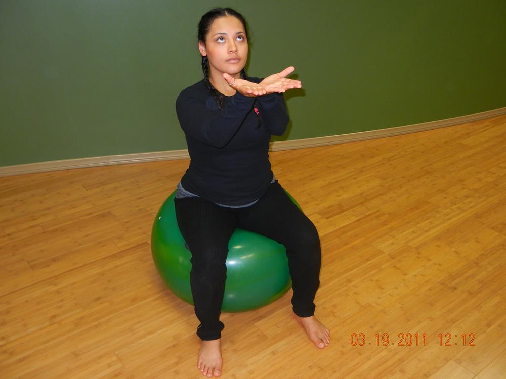 Hand mudras/modern dance choreography, core strength & balance