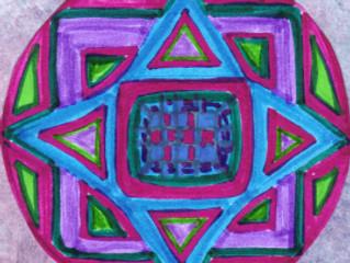 mandala: purple snowflake