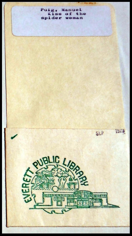 1979 Everett Public Library Card Pocket