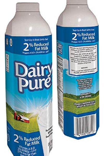 Single Serve 1 % Shelf Stable Milk