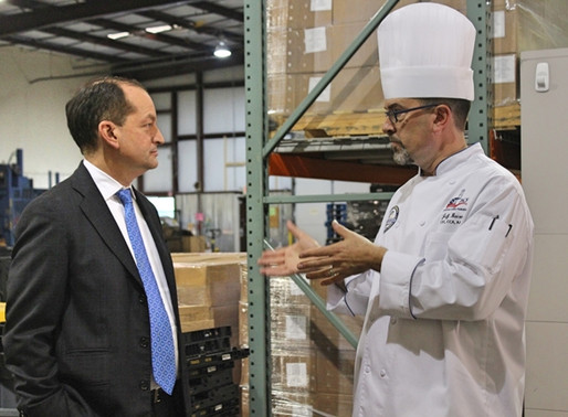 Feeding Opportunity: Jobs, Wages, and Secretary Acosta's Visits Second Harvest