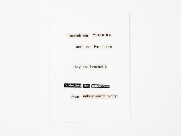 Intermittent Thinking