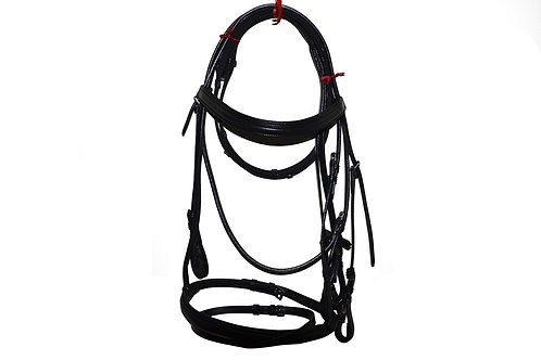 Leather Snaffle Bridle with Flash