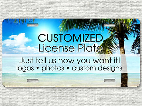 Custom License Plate Car Tag