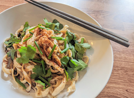Hand Sliced Udon with Herbs and Sweet Soy
