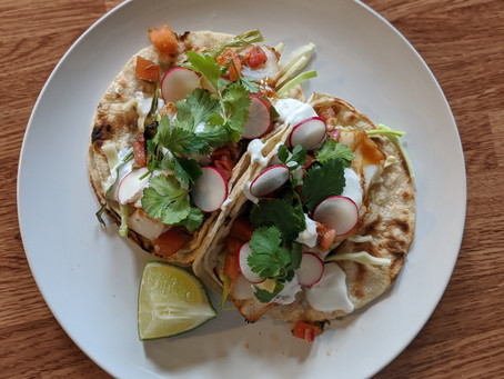 Fish Tacos with Grilled Scallions