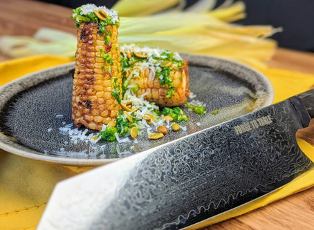 Roasted Corn with Charred Jalapeno Salsa Verde