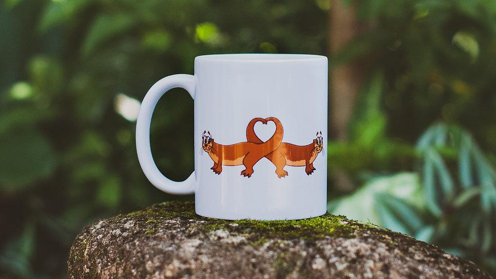 Caneca 2 lontras apaixonadas